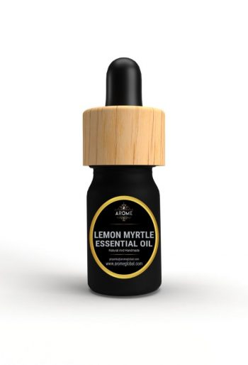 lemon myrtle aromatic essential oil bottle